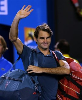 Galerry Australian Open 2014 Andy Murray unable to stop Roger Federer who