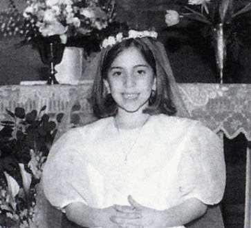 Lady Gaga High School Yearbook Picture Lady Gaga s first communion