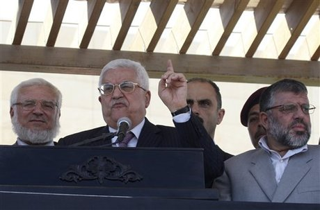 Palestinian president says USA  should mediate hunger strike
