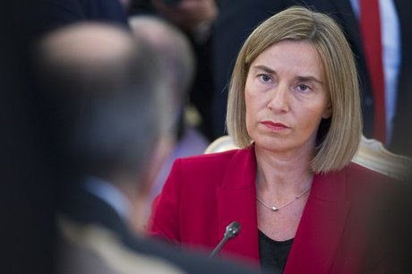 EU's Mogherini, on Moscow visit, says bloc's Russia sanctions to stay