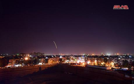 SANA: Syrian air defenses shoot down several Israeli missiles