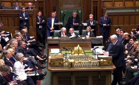 British prime minister faces massive defeat in historic Brexit deal vote