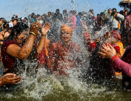 Image result for Millions take the plunge at India's religious mega festival