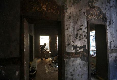 Blaze at Zaha Hadid building in Beirut