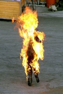 Tunisian man sets himself on fire to protest unemployment ... Arab Spring Man On Fire